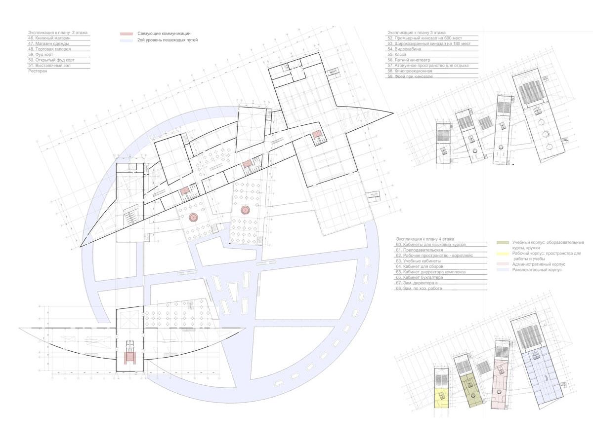 план 2,3,4 этажей