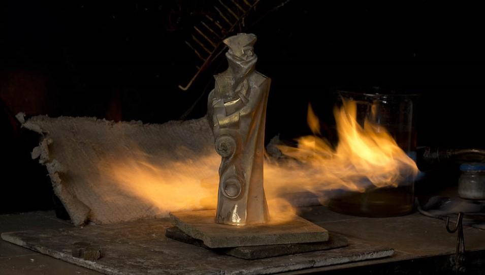 Изготовление статуэток «Золотой Трезини»
