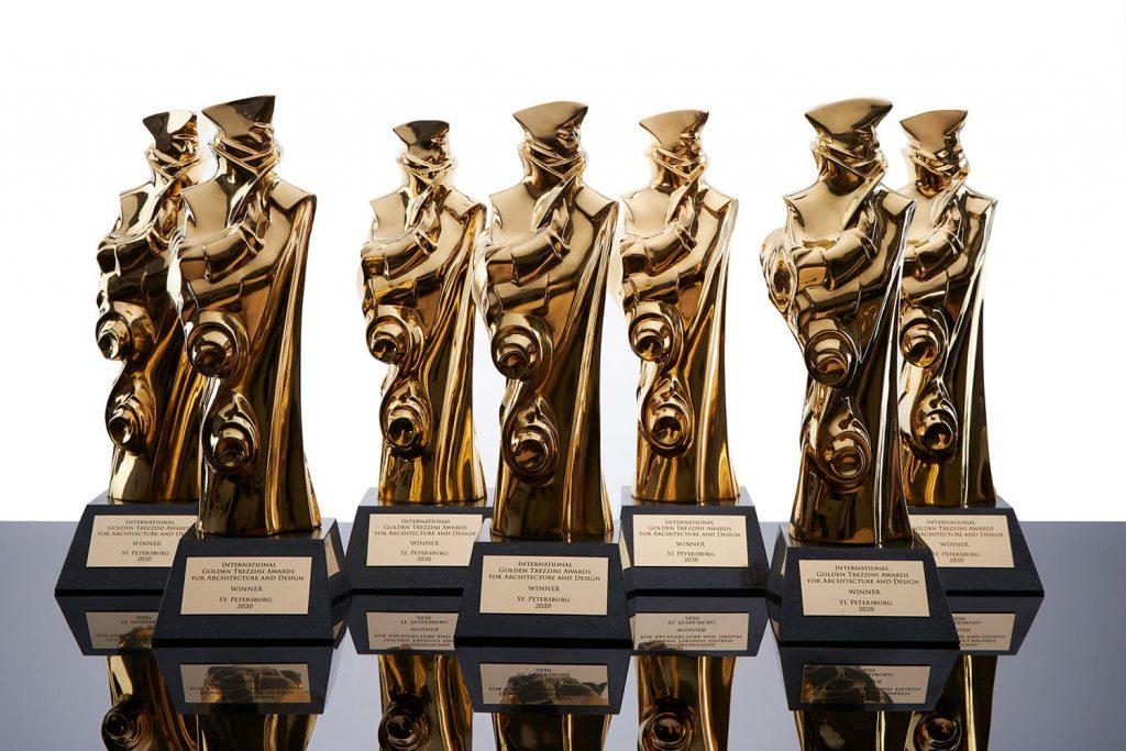Статуэтки «Золотой Трезини»: фотосессия в студии
